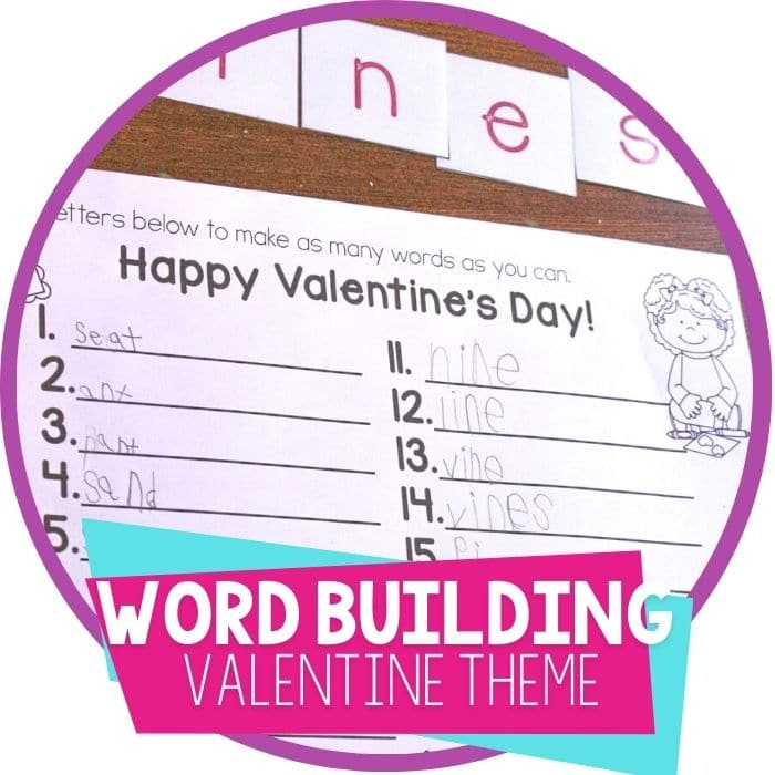Free Printable Valentine's Day Create-a-Word