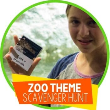 zoo theme scavenger hunt printable Featured Image