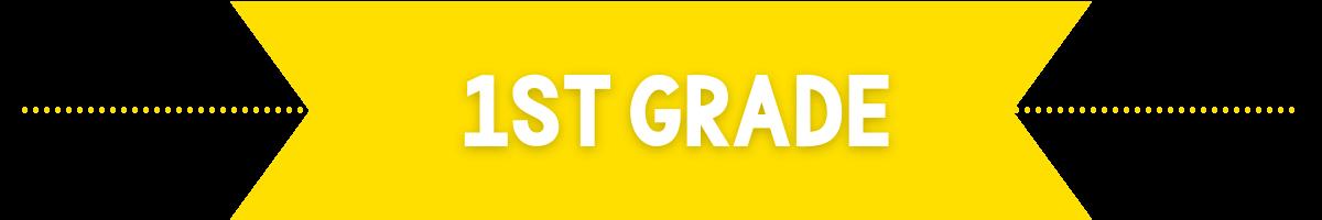 1st grade banner