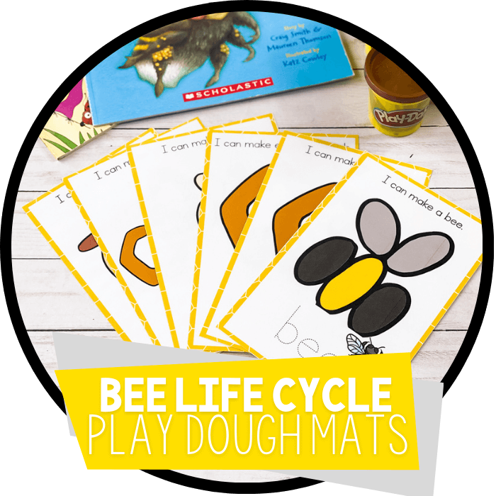 Bee Life Cycle Play Dough Mats Featured Image