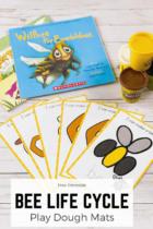 Free Printable Bee Life Cycle Play Dough Mats