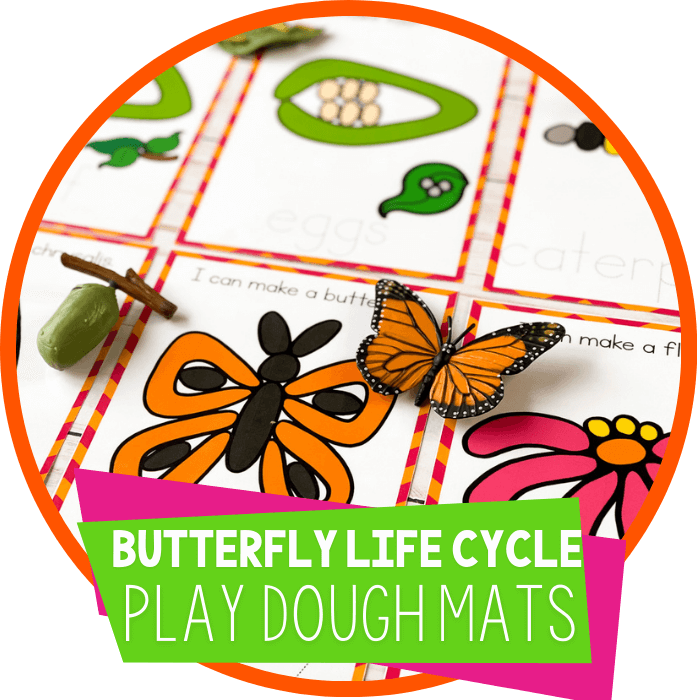 Butterfly Life Cycle Play Dough Mats Featured Image