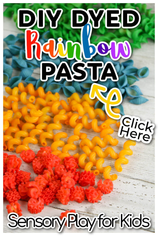 DIY Dyed Rainbow Pasta