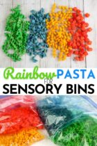 Rainbow Pasta for Sensory Bins