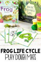 Free Printable Frog Life Cycle Play Dough Mats
