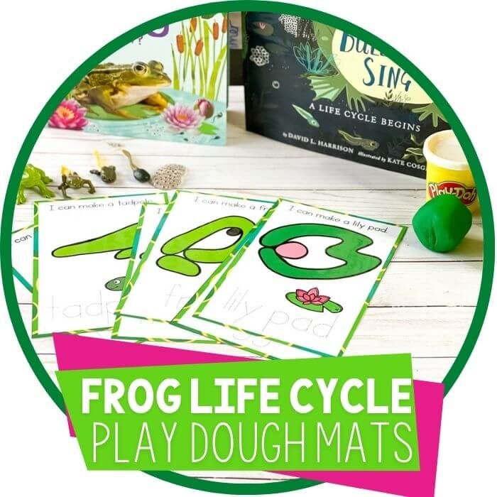 Printable Life Cycle of a Frog Play Dough Mats for Kids