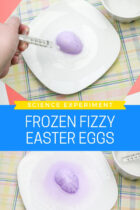 Frozen Fizzy Easter Eggs Science Experiment