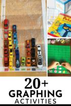 20+ graphing activities for math centers in preschool and kindergarten