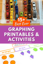 Graphing printables and activities for kindergarten math