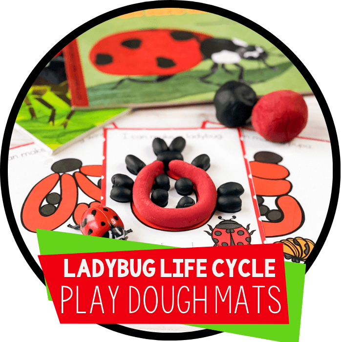 Ladybug Life Cycle Play Dough Mats Featured Image