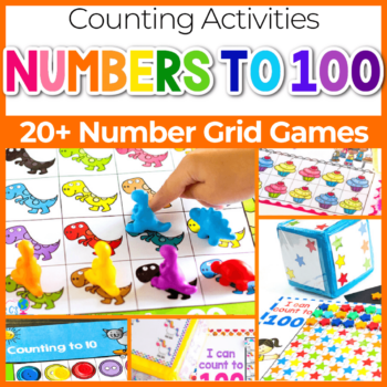 Number counting grid games for preschool square featured image