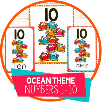 Ocean theme crab number posters and cards Featured Image