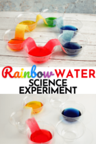 Rainbow Water Science Experiment