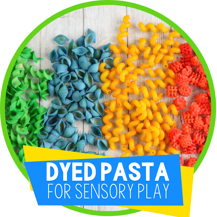 DIY Dyed Pasta for Sensory Play featured image