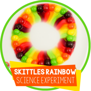 Skittles Rainbow Colors Science Experiment for Kids