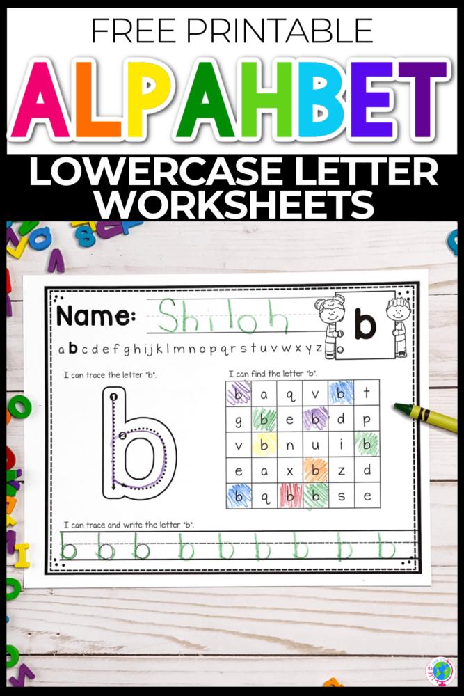 Free Printable Alphabet Lowercase Letter Worksheets