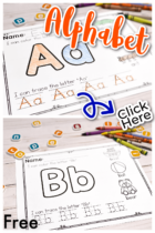 Free Alphabet Worksheets for A-Z