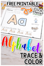 Free Printable Alphabet Trace And Color Worksheets