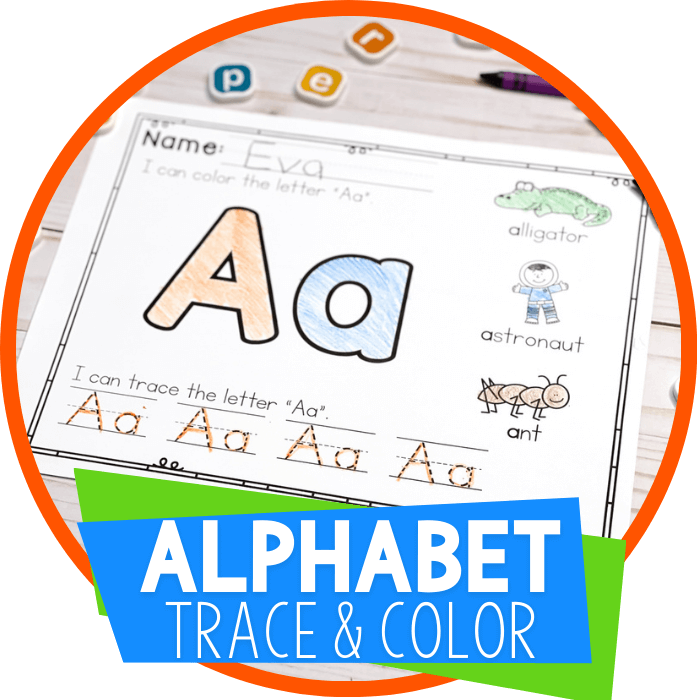Alphabet Trace and Color Worksheets Featured Image