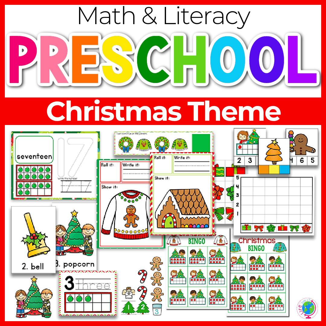 Christmas Preschool Math and Literacy-8