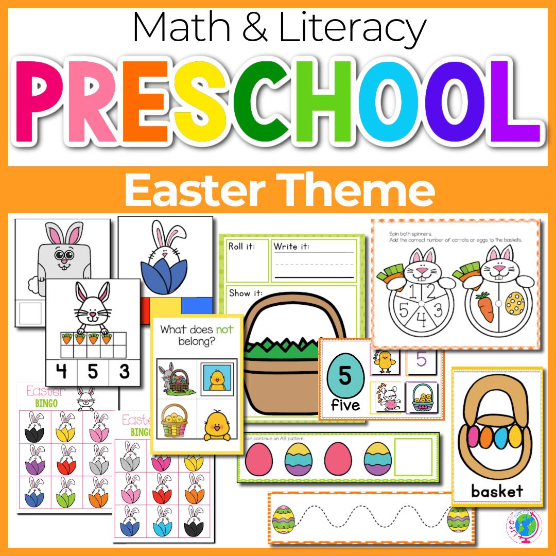 Easter Preschool Math and Literacy-2