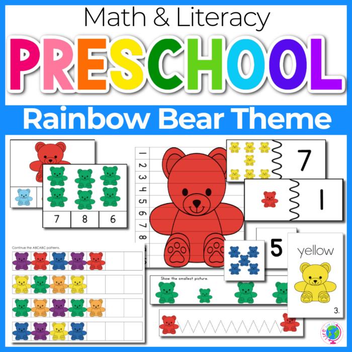 Rainbow Bear Preschool Theme