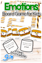 S'mores Emotions Board Game for Kids