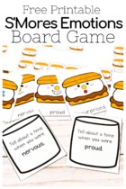 Free Printable S'mores Emotions Board Game