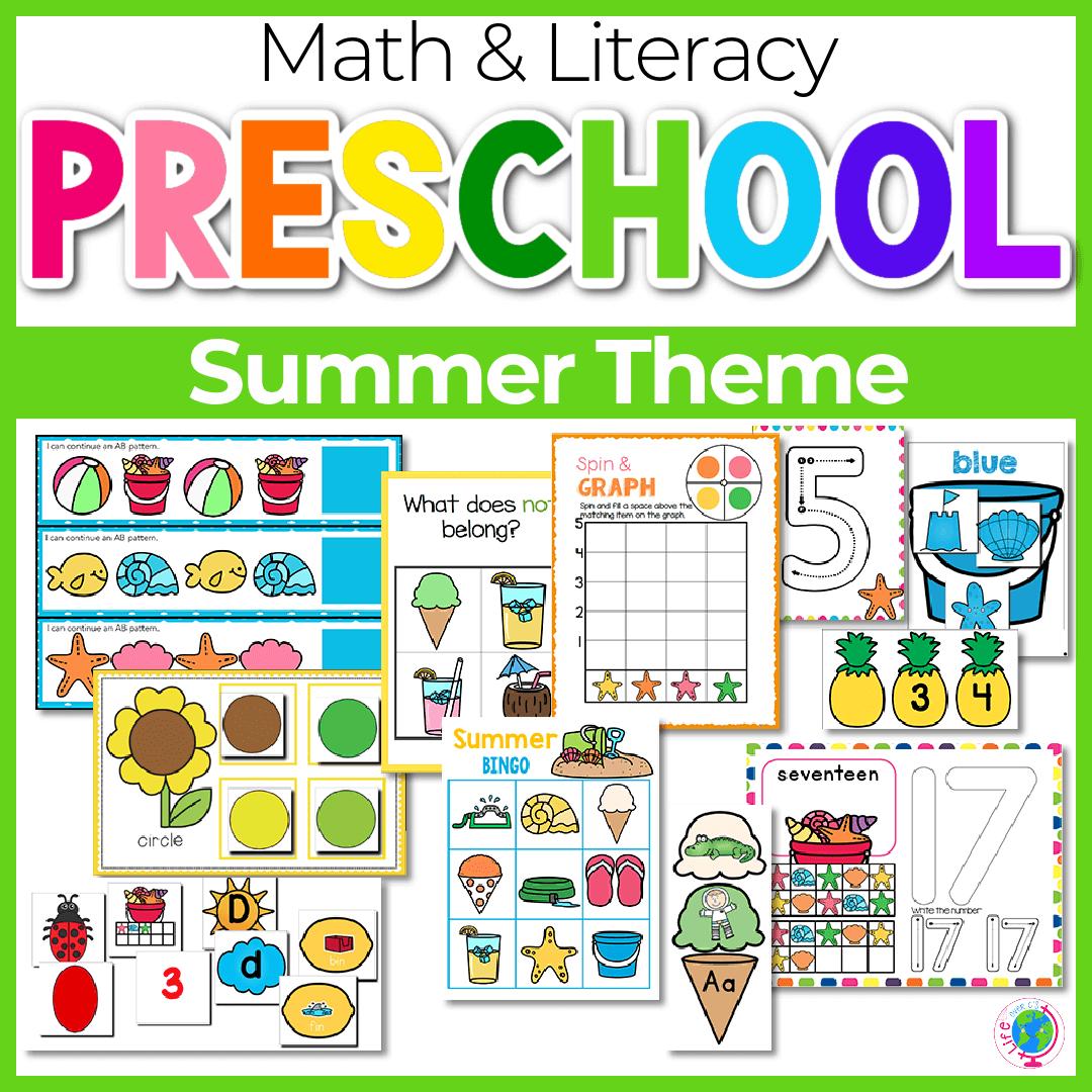 Summer Preschool Math and Literacy-3