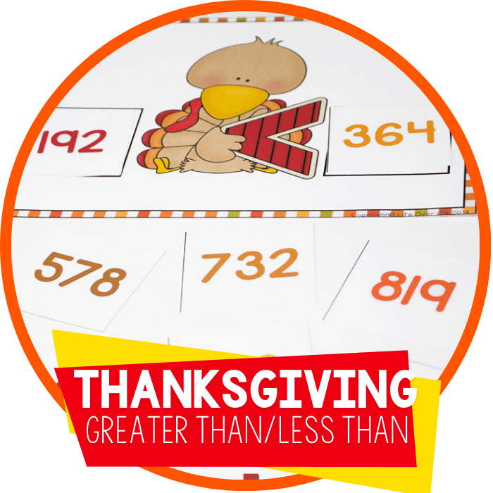 Turkey Greater Than Less Than Free Printable for Hundreds