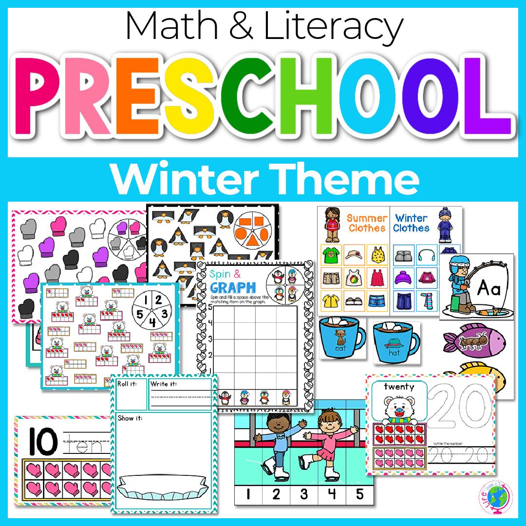 Winter Preschool Math and Literacy-4