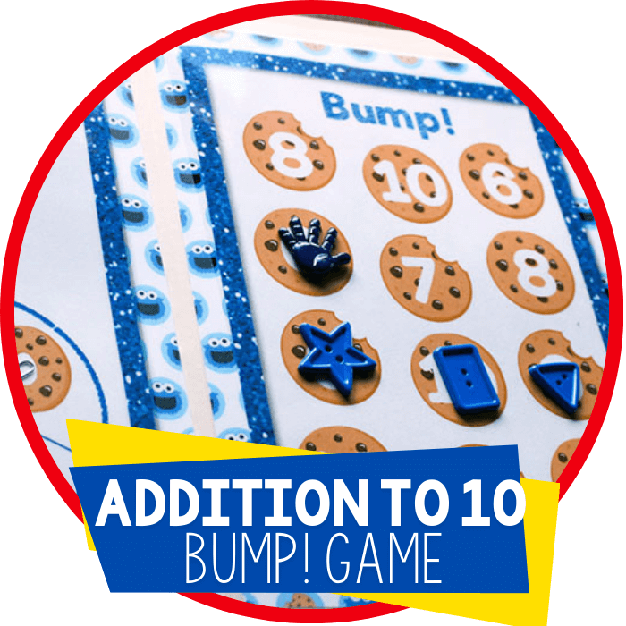 Free Printable for Addition: Cookie Bump!