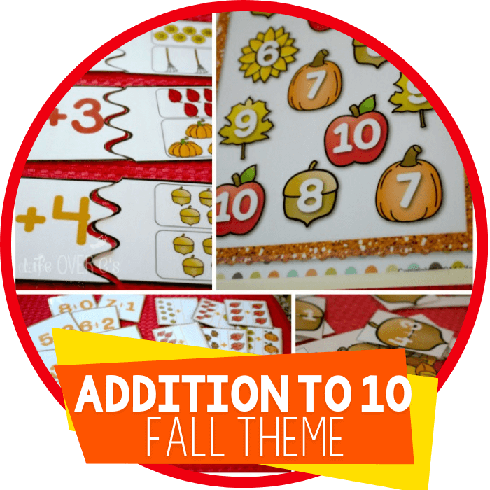Fall Themed Addition to 10 Printables & Centers Pack