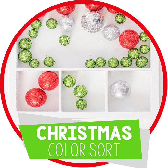 Color Sorting Activity for Christmas