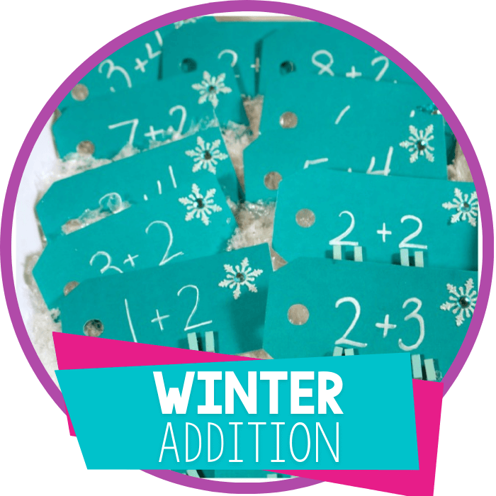 Create Your Own Addition Clip Cards for Winter