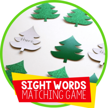 diy sight words matching game Christmas theme featured image