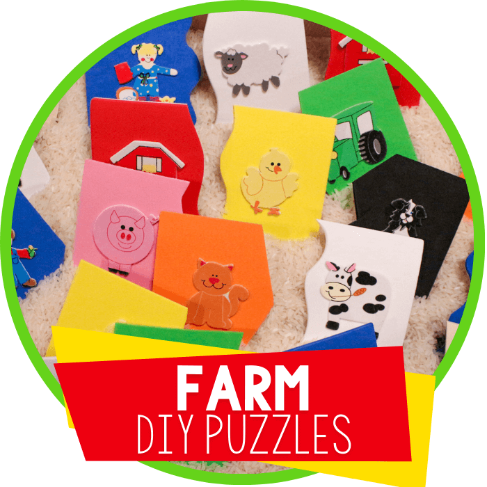 Make Your Own Farm Puzzles for Preschoolers