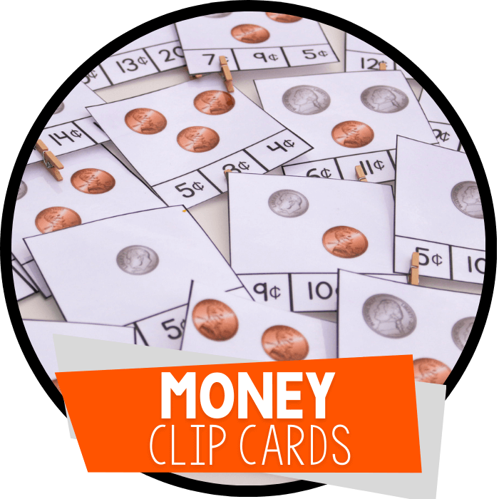 Free Counting Money Clip Cards for Coins