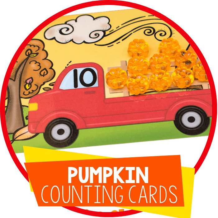 Free Printable Pumpkin Counting Cards