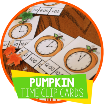 pumpkin theme time clip cards featured image