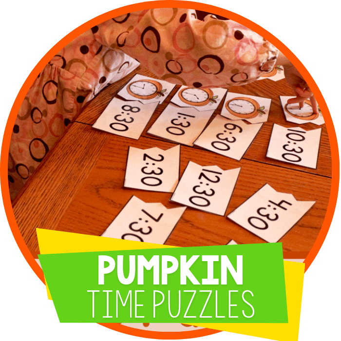 Time with Pumpkins: Free Printables for Telling Time