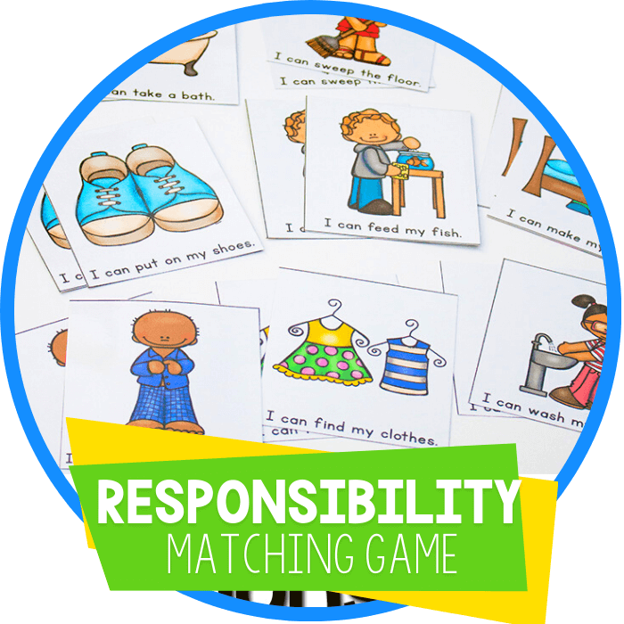 Responsibility for Preschoolers: Free Memory Game
