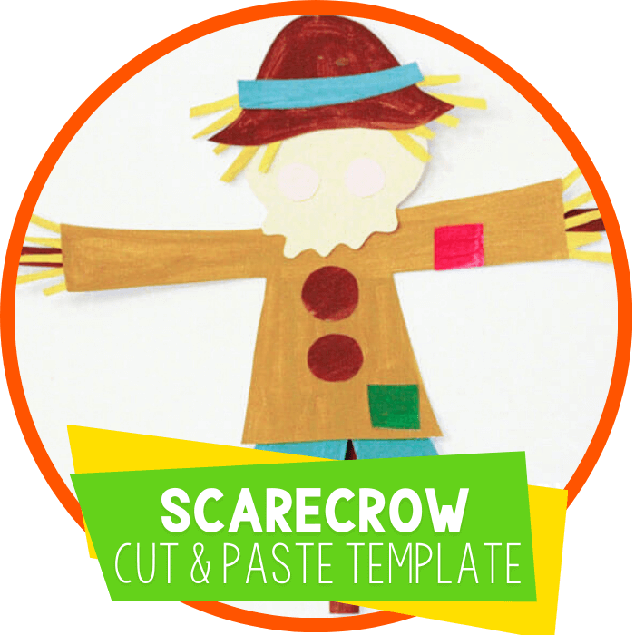 scarecrow cut and paste template featured image
