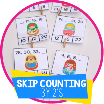 skip counting by 2s clip cards featured image