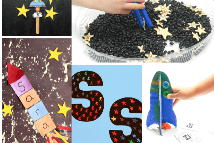 5 hands-on activities from the outer space theme lesson plans for preschool.