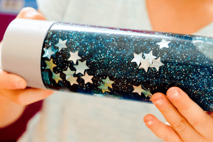 The star sensory bottle from the preschool outer space activities.