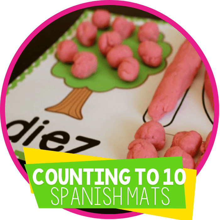 Free Play Dough Tree for Counting 1-10 Spanish