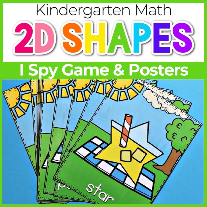 2d Shape Posters and I Spy Game lemonade theme