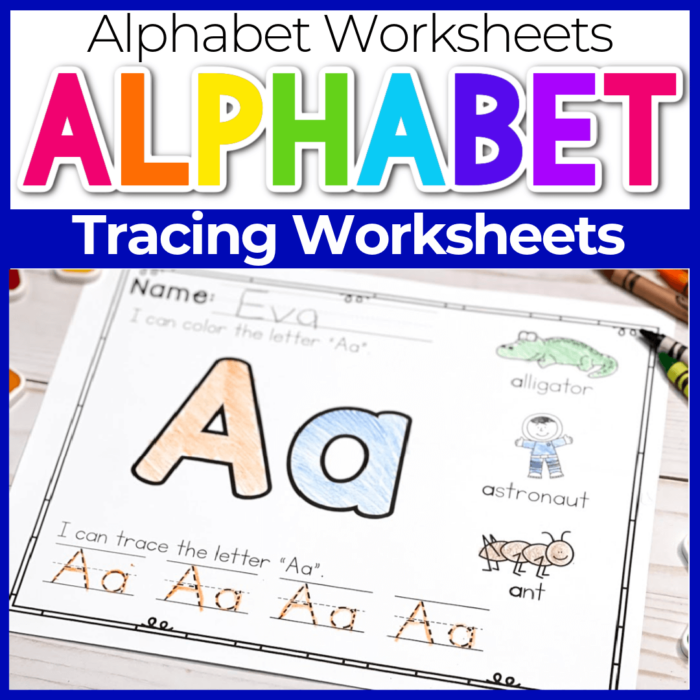 Alphabet Tracing Worksheets for preschool