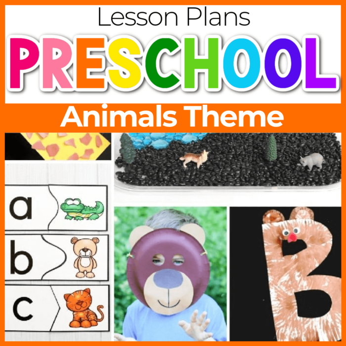 Animals Theme Preschool Lesson Plans